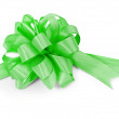 Green ribbon on white — Stock Photo