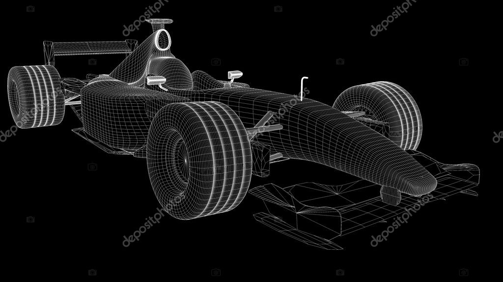 A wireframe of a formula one car — Stock Photo #2804806