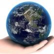 Earth in the hand — Stockfoto