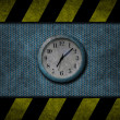 Grunge blue clock — Stock fotografie