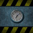 Grunge blue clock — Stockfoto