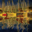 Harbour in the sunset — Stock Photo