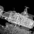 Stock Photo: Wireframe formula one