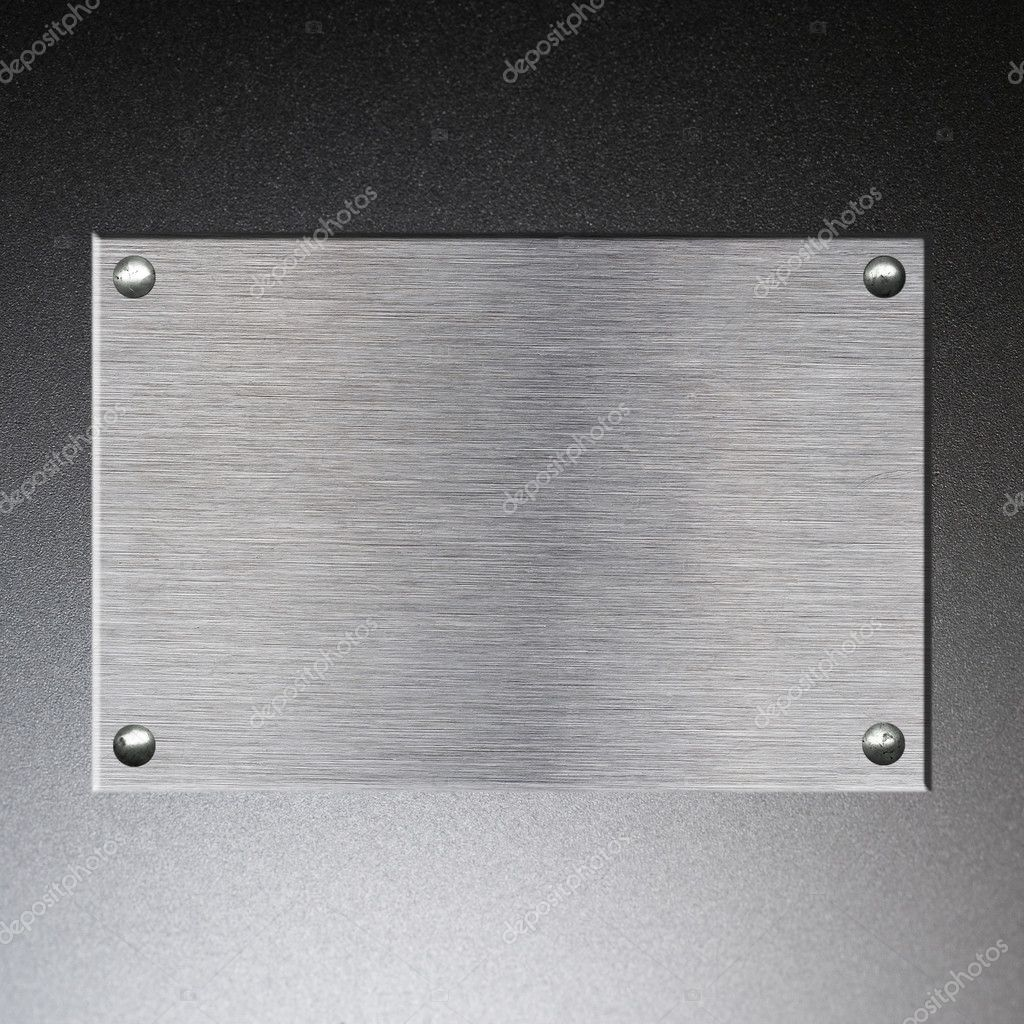 Metal Plate background from brushed silver aluminum  Stock Photo #2935718