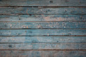 Old blue wooden wall — Stock Photo