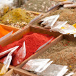 Spices at a market — Stockfoto