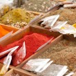 Spices at a market — Stock Photo