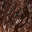 Background of wavy hair brunette — Stock Photo