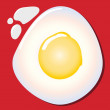 Vector de stock : Fried egg