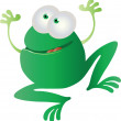 Funny cartoon frog — Stock Vector