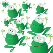 Royalty-Free Stock Vector Image: Frogs invasion
