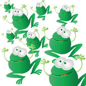 Frogs invasion — Stock Vector
