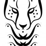 描画 ceetah のタトゥー — ストックベクタ