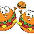 Stock Vector: Fast food family