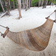 Empty hammock at  the beach — Foto de Stock