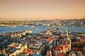 Istanbul Panoramic Sunset — Stock Photo