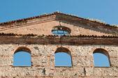 Duvar eski ev — Stok fotoğraf