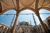 In the yard of the Blue Mosque — Stock Photo