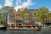 A channel in Amsterdam — Stock Photo