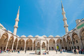 Blue mosque courtyard — Stock Photo