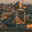 View to the Mosques from Galata Tower - Stock Photo