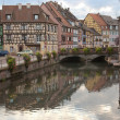 A channel in Strasbourg - Stock Photo