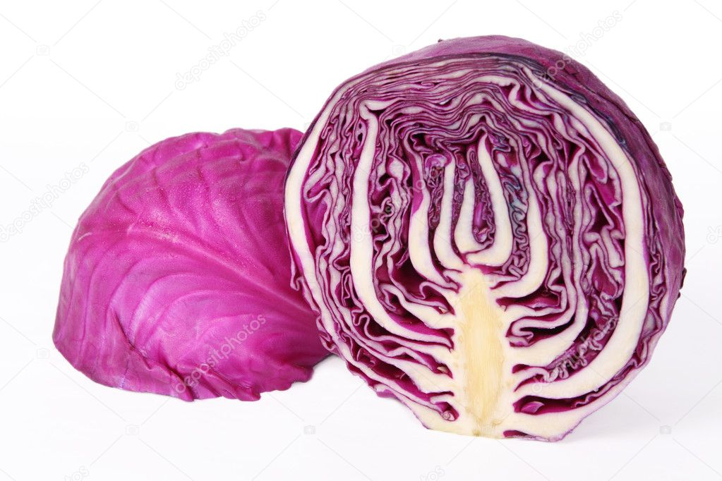 how to cut purple cabbage
