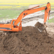 Stock Photo: Excavating machinery