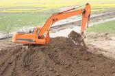 Excavating machinery — Stock Photo