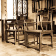 The furnishings in the ancient chinese study — Stock Photo