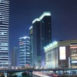Night city scenery in chinese shanghai — Stock Photo