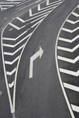 Right turn traffic signs — Stock Photo