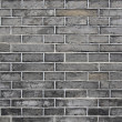 Stock Photo: Vintage black brick wall