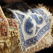 Persian traditional decorative cloth - Stock Photo