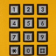 Foto Stock: Phone number keys