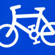 Bike sign — Stock Photo