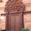 Nepal wooden door - Stock Photo