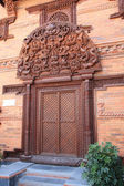 Nepal wooden door — Stock Photo