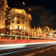 Shanghai (the bund) at night — Stock Photo