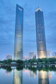 Skyscrapers in shanghai — Stock Photo