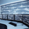 Stock Photo: Railway control room