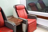High-speed train seats — Стоковое фото