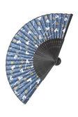 Fã de seda azul — Foto Stock