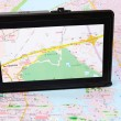 Stock Photo: Gps with map