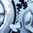 Gears meshing together - Stock Photo