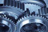 Steel gears — Stock Photo
