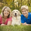 Royalty-Free Stock Photo: Family Portrait with Dog