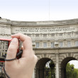 Woman Photographing the Sites — Stock Photo