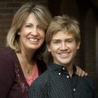 Mother and Teenage Son Portrait — Stock Photo