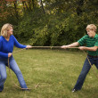 Mother and Son Tug of War — Stock Photo #3319742